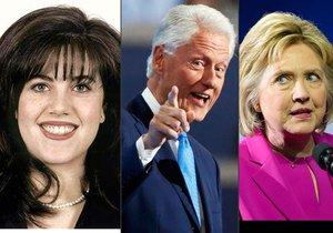 """Bill básnil o lásce, Hillary možná zasedne tam, kde """"úřadovala"""" Lewinsky"""