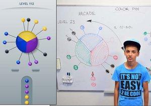 Martin z azylového domu je autorem super hry Color Pin.