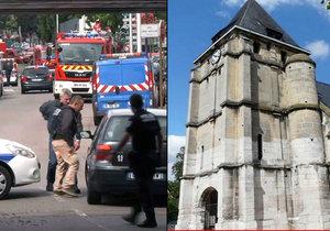 Rukojmí z kostela v Normandii prožívali ty nejhorší okamžiky v životě. Díky zásahu policie se je ale podařilo zachránit.