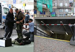 Kvůli bombové hrozbě uzavřeli stanici metra Můstek. Výbušninu nenašli