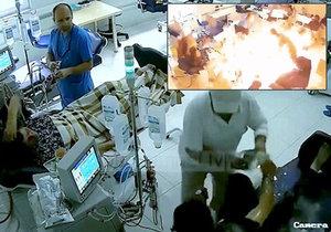 Pacient se pokusil brutálně zavraždit svého soka v nemocnici.