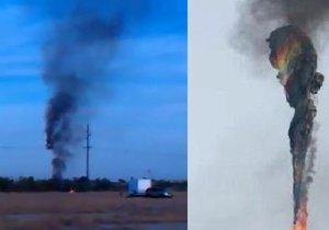 """Horkovzdušný balón se 16 lidmi pohltily plameny. """"Nikdo nepřežil,"""" řekl šerif"""