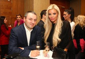 Slovenská modelka Silvia Kucherenko s manželem, podnikatelem Sergejem