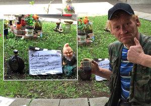 Bezdomovec Honza je na svůj projekt právem pyšný.