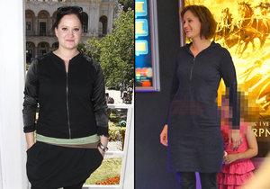 Natálie Kocábová hodně zhubla.