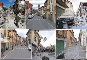 Při silném zemětřesní v Itálii zemřely desítky lidí.