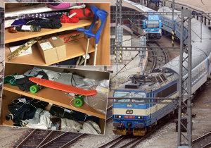 Lidé zapomínají ve vlaku berle, skateboardy, protézy…