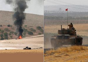 """Turci posilují """"invazi"""" do Sýrie a útočí na Kurdy. ISIS použil chemické zbraně"""