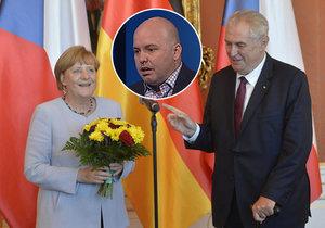 Poitolog Jelínek okomentoval návštěvu Angely Merkelové v Praze. Včetně schůzky s Milošem Zemanem