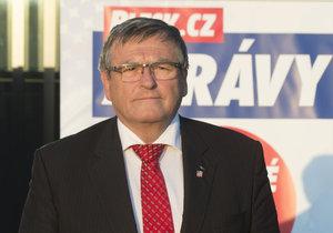 Hejtman Jiří Běhounek při předvolební debatě Blesku v Jihlavě