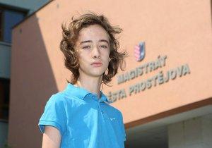16letý aktivista Jakub Čech
