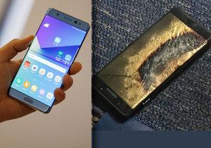 Samsung Galaxy Note 7 se přehřívá a může se sám vznítit.