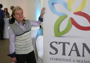 Krajské volby 2016: Dana Drábová ve štábu STAN