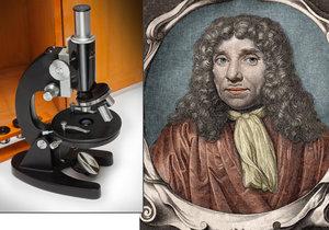 Antony van Leeuwenhoek položil základy mikrobiologie.