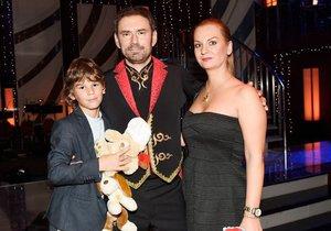 Ridiho přišla podpořit manželka Jana a syn Giacomo.