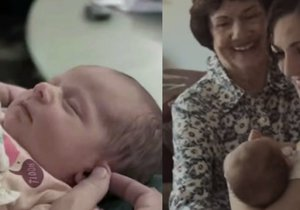 Dojemné přijetí adoptovaného miminka