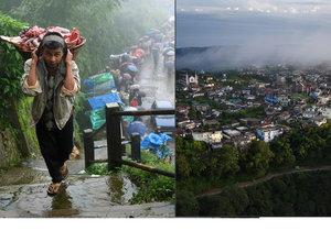 Severoindická vesnice Mawsynram je patrně nejmokřejším místem na Zemi. Průměrně tu za rok spadne na 12 metrů srážek.