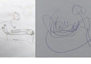Malovánky dítěte odhalily, že bylo sexuálně zneužíváno.