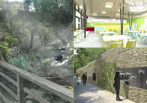 Zoo zveřejnila vizualizace staveb, které plánuje v příštích letech postavit.