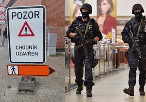 Policie uzavřela kvůli hrozbě bombou autobusové nádraží na Zvonařce i nákupní galerii Vaňkovka.