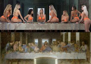 Provokativní předělávka slavného da Vinciho díla vyvolala pobouření.