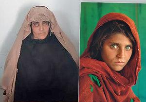 Afghánská dívka ze slavné fotografie pořízené v 80. letech byla zatčena v Pákistánu.