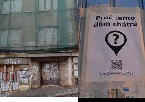 Kolik je v Praze prázdných domů? Kde všude jsou a proč je někdo nevyužívá nebo neopraví? Odpovědi na tyto otázky hledá iniciativa Prázdné domy.