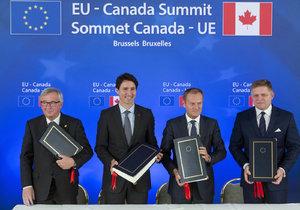 Komplexní hospodářskou a obchodní dohodu (CETA) mezi EU a Kanadou podepsaly obě strany v Bruselu.