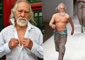 Číňan Wang Te-šun se stal v 80 letech vyhledávaným modelem.