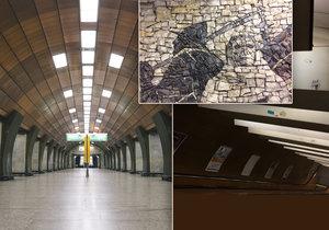 Stanice metra Želivského skrývá skvosty, kterých si člověk často ani nevšimne.