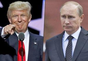 Donald Trump projevil sympatie k prezidentovi Ruska Vladimiru Putinovi.