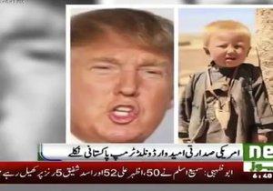 Údajné foto Donalda Trumpa z Pákistánu, když byl ještě chlapec.