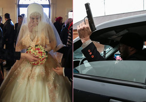 Velká čečenská svatba: Smutná nevěsta bez rodičů i střelba do vzduchu