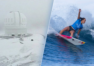 Ze surfu rovnou na lyže: Havajské ostrovy pokryl metr sněhu