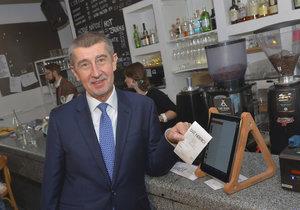 """""""Tahák"""" EET začne v září: Babiš spustí účtenkovou loterii, rozdá 65 milionů."""