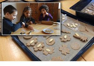 Děti v MŠ Semínko, kterým jsou i jen tři roky, pekli cukroví.