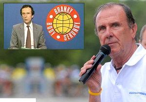 Sportovní komentátor ČST Robert Bakalář