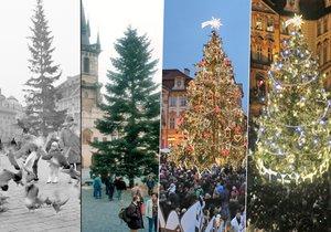 Jak šel čas s vánočním stromem na Staroměstském náměstí… Který se vám nejvíce líbí?