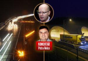 Dálnice D8, premiér Bohuslav Sobotka a komentář Petra Holce