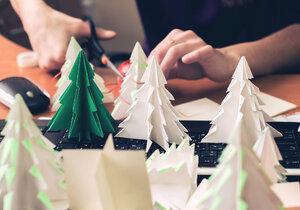 Vánoční ozdoby trochu jinak? Vyrobte si origami stromeček