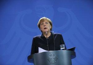 Německá kancléřka Angela Merkelová během svého prvního projevu po teroru v Berlíně.