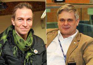 Pirátům má pomáhat exposlanec za ODS Vlastimil Tlustý (vpravo). Předseda Pirátů Ivan Bartoš na tom nevidí nic špatného.