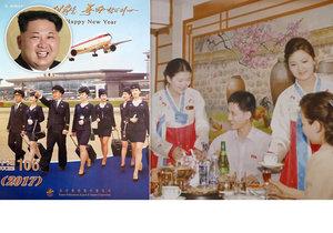 Kim Čong-un láká turisty do KLDR pomocí kalendáře s letuškami.