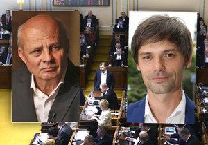 Sbírání podpisů pod prezidentské petice ve Sněmovně konečně dostalo pravidla. Na snímku Michal Horáček (vlevo) a Marek Hilšer.