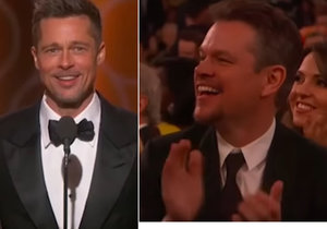 Herec Brad Pitt má od svých kolegů plnou podporu.