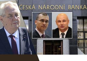 Miloš Zeman, Oldřich Dědek, Marek Mora