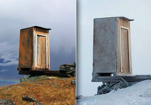 Nejextrémnější záchod světa najdete na Sibiři v pohoří Altaj.
