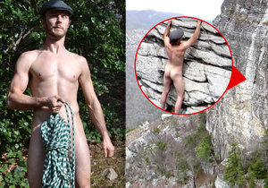 Horolezec Austin Howell z Atlanty nepotřebuje ani lano ani oblečení.