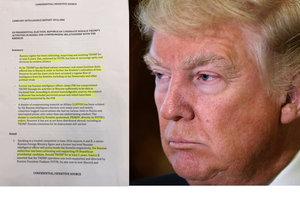 Dokument amerických tajných služeb, jehož pravost nebyla potvrzena, tvrdí, že Moskva chtěla Trumpa v budoucnu vydírat.