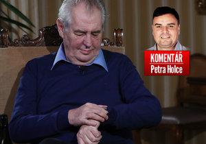 Prezident Miloš Zeman pohledem komentátora Petra Holce